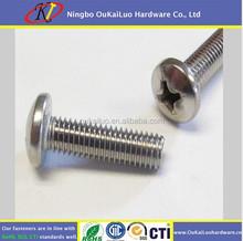 Phillips Pan Head Machine Screw Zinc Plated/ Dacromat coating