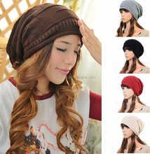 Cheap Knitting Wool Hip Hop Women Winter Knitted Beanie Hat
