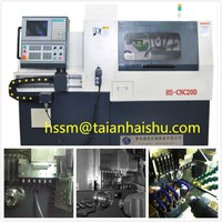 cnc metal engraving machine HS-CNC20D swiss cnc lathe and hobby cnc metal machines