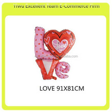 LOVE Compose Foil Balloon Decoration Wedding & Party Helium Balloon
