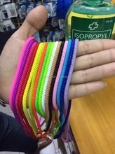 50cm length plastic spiral hair band for protect headset and charge cable