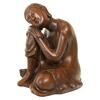 Resin Thai Buddha Meditating Peace Harmony Statue resting head on kneel