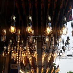 ST64 220V 4W LED Filament Bulb, Tear Drop Squirrel Cage, E27 Vintage Loft Lighting