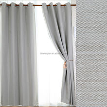 2014 new style 100% polyester linen like embossed hotel blackout curtain