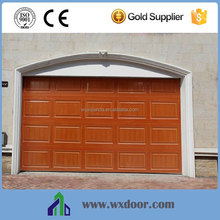 residential sectional wooden color garage door window kit