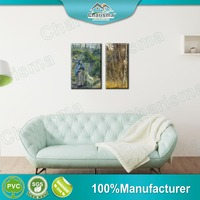 Non frame decorative oil painting polyester fabric art paints for home decoration