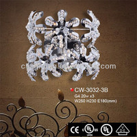 Fancy Beautiful Iron Flower Crystal Bead Center Ganesh Wall Lights
