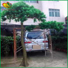 wholesale artificial potted pine tree bonsai with branches and leaves