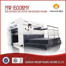 Easy and simple to handle Semi-Automatic flatbed carton flat bed corrugate die cutter