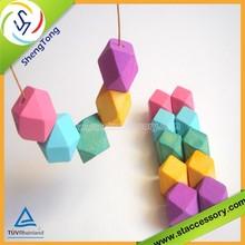 high quality bulk wooden beads/geometric 10mm wooden beads