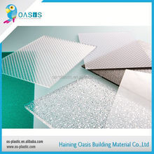 Long lifetime factory directly clear polycarbonate embossed sheet