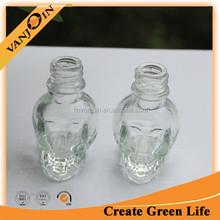 15ml Skull Glass Bottle With Screw Neck For Nail Polish