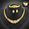 Rhinestone Jewelry Set,18k Solid Gold Chain Necklace,Necklace Set(SWTAA1553)