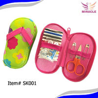 Shoe design pouch sewing kit sewing set sewing manicure set