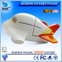airplane shape mouse 2.4ghz wireless mouse personalized mouse