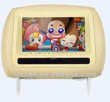 """7"""" arka koltukta araba tv kafalık dvd player oyun, ir, fm, usb, dijital tv"""