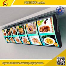 Fast food used sales well aluminum led material single sided acrylic menu rotating light box