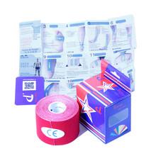 11 Farben 5cm x 5m Kinesiologie sporttape kintape baumwolle elastischer klebstoff Muskel Verband strain injury Unterstützung