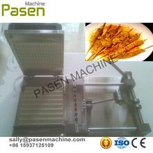 Prático e acessível manual do churrasco de carne de bambu espeto máquina de kebab