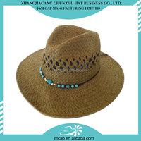 New design cheap straw make a paper cowboy hat
