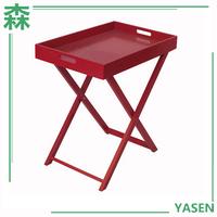 Yasen Houseware Wholesale Lounge Furniture,Wood Small Size 2 Section Folding Table