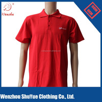 Custom Red Color polo t shirt with your own logo ,one color logo t shirt
