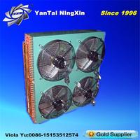 Bitzer Copper Pipe And Aluminium Fan Cooling Condenser