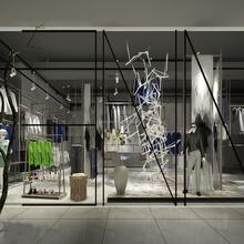 Look! Fantastic Modern Display Rack Design For Garment Store