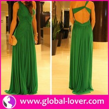 China Wholesaler for Women Clothing 2015 High End Green Cocktail Dress