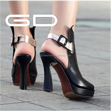 New women ankle straps cover heel sandals gladiator toe open white dress shoes wedding pump