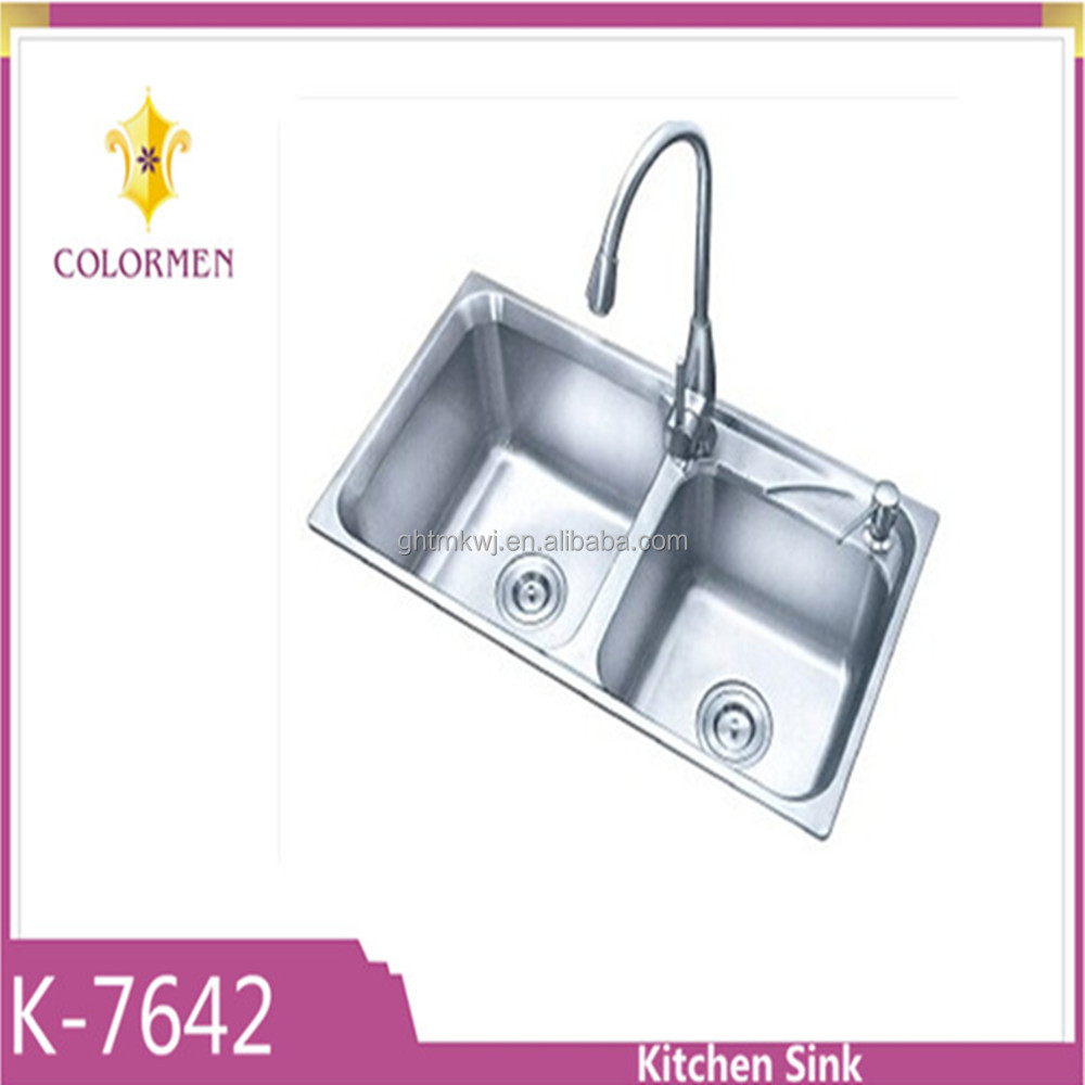 High Quality Double Bowl Stainless Steel Kitchen Sink With