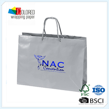 Silver Card with Blue Hot-stamping Brand Shopping Bags