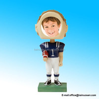 Resin Football Photo Bobble Head