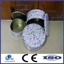 Gold supplier in China sell round metal cake tin with clear PVC/PET window of food grade
