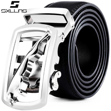 SXLLNS Automatic Buckle Leather Belt for Business and Fashion