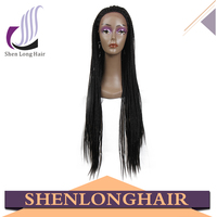 Factory direct sale wholesale cheap kanekalon braiding hair, popular 29 inch crochet braiding hair wig with front lace