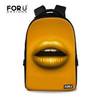 For U Designs 3D Backpack Vintage Cute Canvas School Backpack