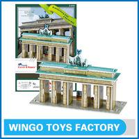 Brandenburg Gate & Berlin Wall model 3d puzzles for children