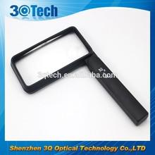 DH-83008 square shape led plastic pocket magnifier lens