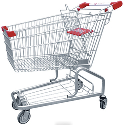 Retail wal-mart style mall metal shopping cart manufacturer