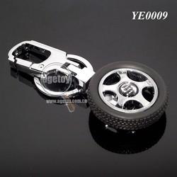 Rotate Metal Car Logo 3D Tyre Keychain
