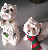 Resin West Highland White Terrier christmas hanging ornament