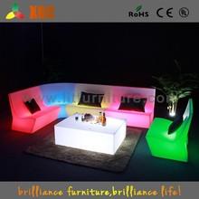 Lighting garden led sofa, illuminated led sofa, plastic led sofa