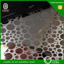 201 304 4x8 small circle pattern embossed stainless steel decorative sheets