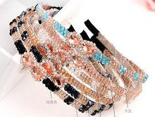 Wholesale Diamond setting fashion diamond hair bands for unisex