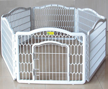 Dog Exercise Containment Pet Pen Playpen Crate Kennel Fence Portable Puppy Cage white