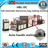 Huabo Machinery 2015 The newest Non woven bag making machine/auto handle sealing/non woven box bag making machine