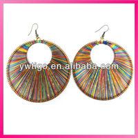 wholesale hand craft peruvian thread dream catcher earrings
