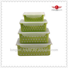mutilfunction 4pcs rectangle platic food container passed LFGB test