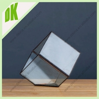 Wedding centerpieces acrylic candle holder lantern // glass vase for home decoration cube acrylic candle holder